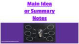 Differences between the Main Idea or Summary Notes