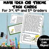 Main Idea or Theme Task Card Strips and TPT Digital Overlay