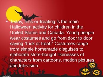 Main Idea powerpoint- Halloween
