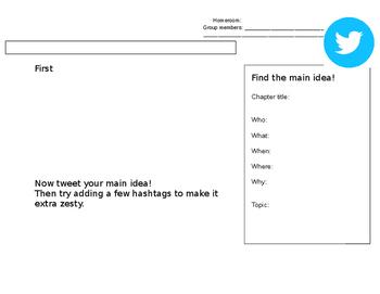 "Main Idea ""tweet"" practice"