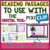 Main Idea vs Details: Passages to Use with Pixiclip