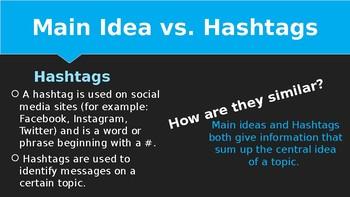 Main Idea with Hashtags