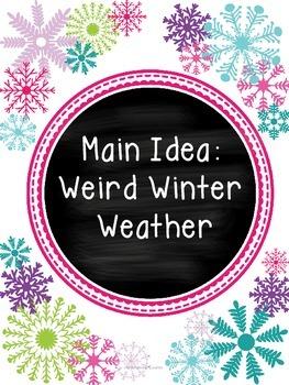 Main Idea with Weird Winter Weather