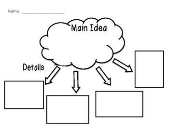 Main Idea/Detail Graphic Organizer