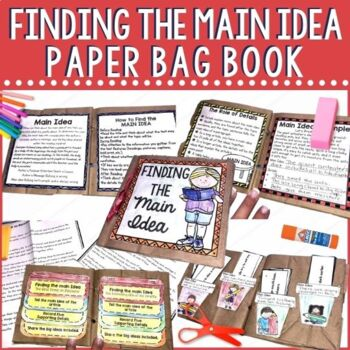 Learning Main Idea just became fun for your students with this paper bag book project. It includes teaching pages as well as multiple practice opportunities. Perfect for small group instruction during the guided reading block or for your RTI sessions.