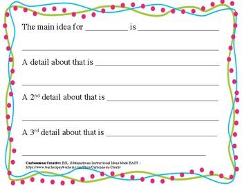 Main Ideas & Details Bundle