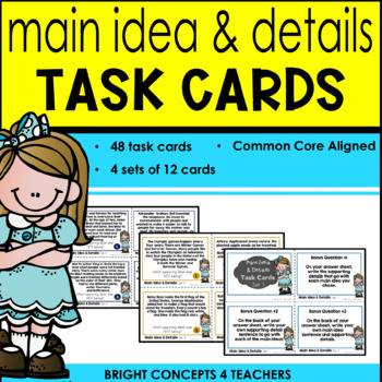 Main Idea & Details Task Cards