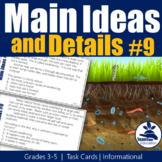 Main Ideas Task Cards 9 - Informational