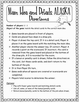Main Ideas and Details: ALASKA