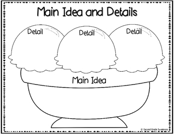 FREEBIE: Main Idea and Details Graphic Organizer