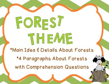 Main Ideas and Details/Comprehension Practice (Forest Theme)