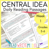 Main Ideas and Inferences Daily Reading Comprehension Pass