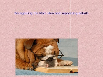 Power point: Main Ideas and Supporting Details