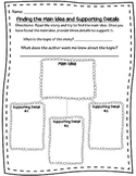 Main Ideas and Supporting Details Graphic Organizer