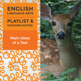 Main Ideas of a Text - Playlist and Teaching Notes