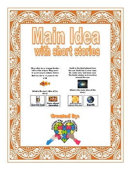 Main Ideas with Short Stories and visual