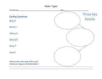 Main Topic Graphic Organizer