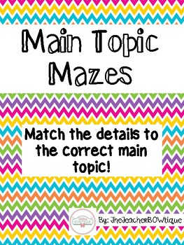 Main Topic Mazes