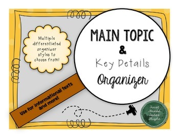 Main Topic and Key Detail Organizer