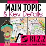 Main Topic and Key Details 2nd Grade RI2.2 with Digital Di