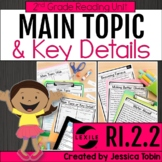 Main Topic and Key Details 2nd Grade RI.2.2 with Digital Learning Links - RI2.2