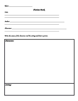 Retelling Graphic Organizer - Characters, Setting, Beginning, Middle & End