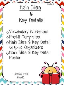 Main Idea and Key Details Activity Set