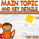 Main Topic and Key Details - Passages and Assessment CCSS RI1.2