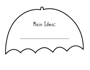 Main Topic and Key Details Umbrella Craft