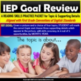 Main Topic and Supporting Details | IEP Goal Skill Builder