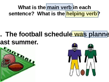 Main Verbs and Helping Verbs for Visual Learners