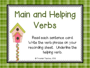 Main and Helping Verbs #2