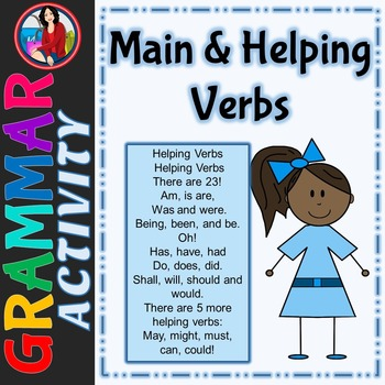Main and Helping Verbs Center Activity