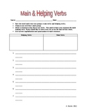 Main and Helping Verbs - Sentence Builder