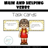 Main and Helping Verbs Task Cards