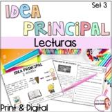 Main idea  in Spanish/Idea principal y detalles