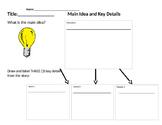 Main idea and key details organizer