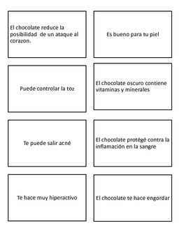 Main idea and supporting details (Spanish)