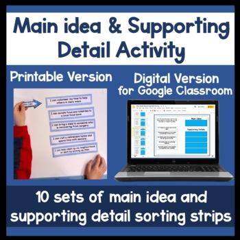 Finding the main idea activity
