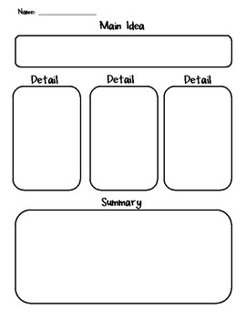 Main idea, detail, summary writing