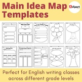 Main idea graphic organizers for informational text analysis