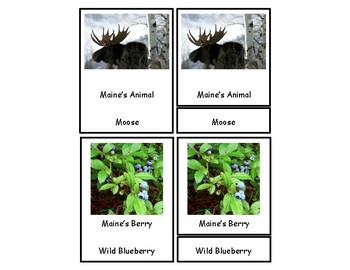 Maine 3 Part Cards