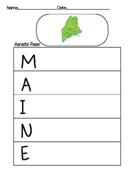 Maine Acrostic Poem