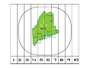 Maine Counting to 10 Puzzle
