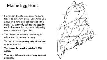 Maine Easter Math Activity