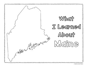 Maine Graphic Organizers (Perfect for KWL charts and geography!)