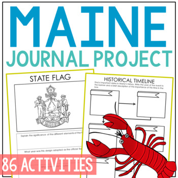 MAINE History Guided Research Project, Notebook Journal Pages {EDITABLE}