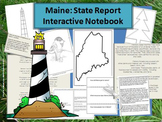 Maine: State Report Interactive Notebook & Bulletin Board Display