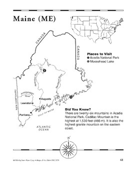 Maine (Map & Facts)