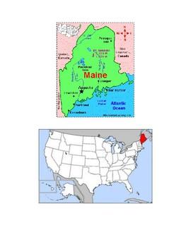 Maine Map Scavenger Hunt